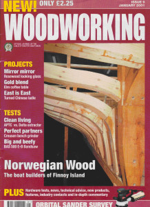 Front cover Woodworking magazine
