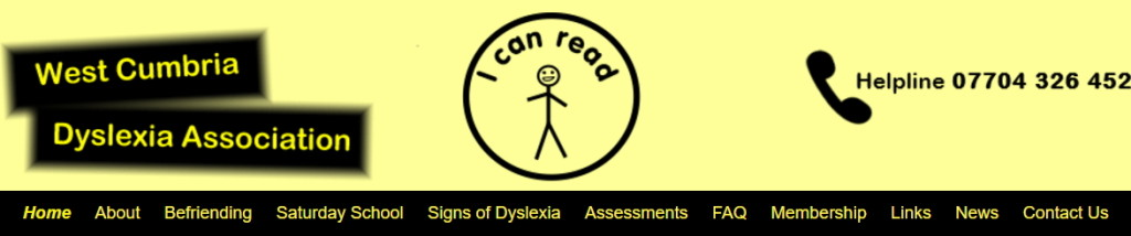 West Cumbria Dyslexia Assoc supported by Vivienne Tregidga Impact 108